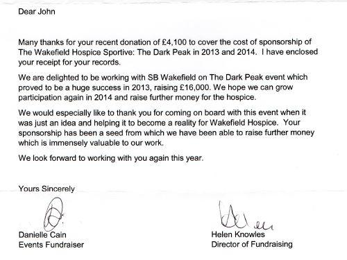 SB Wakefield are very proud to Sponsor The Wakefield Hospice