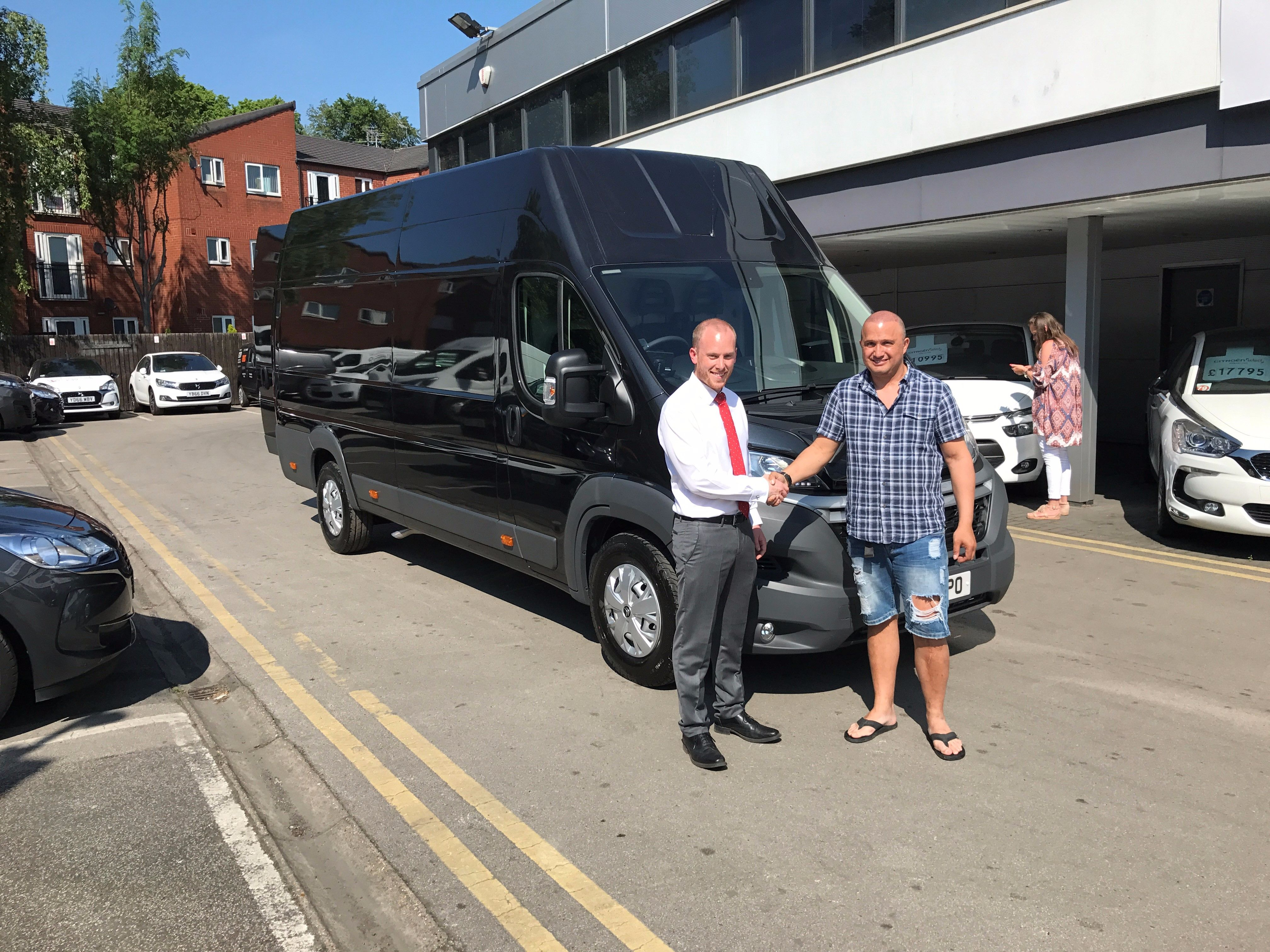 Gordon Parrott of Skytracker UK takes his 4th van in less than two years from SB Wakefield