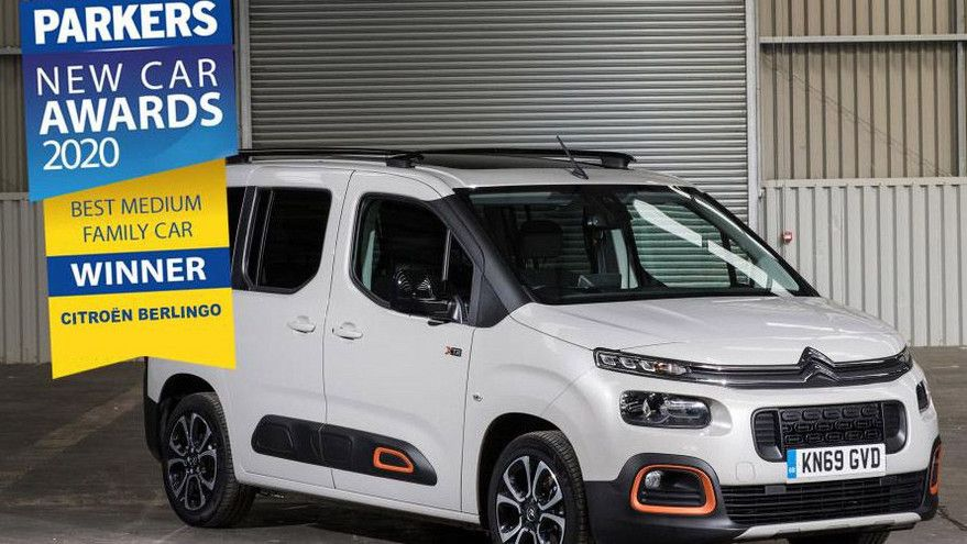 CITROËN BERLINGO SCOOPS BEST MEDIUM FAMILY CAR TITLE IN PARKERS NEW CAR AWARDS 2020