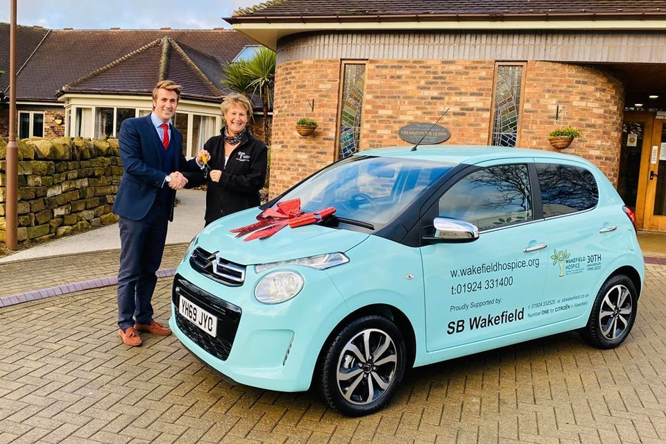 WAKEFIELD HOSPICE 'C' IN THE NEW YEAR WITH A NEW CITROEN FROM SB WAKEFIELD